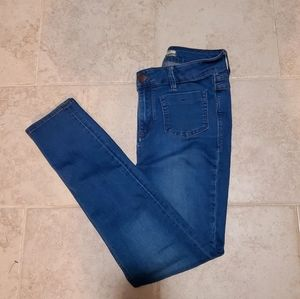 Free people high rise blue jeans